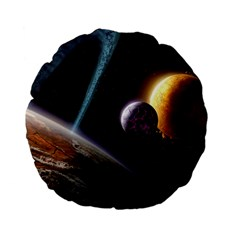 Planets In Space Standard 15  Premium Flano Round Cushions