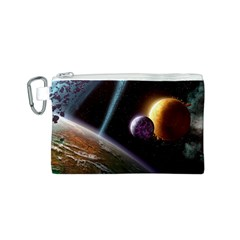 Planets In Space Canvas Cosmetic Bag (s)