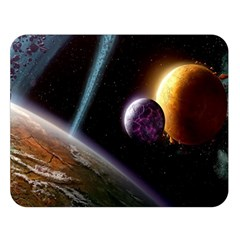 Planets In Space Double Sided Flano Blanket (large)