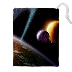 Planets In Space Drawstring Pouches (xxl)
