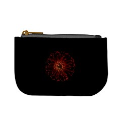 Red Flower Blooming In The Dark Mini Coin Purses