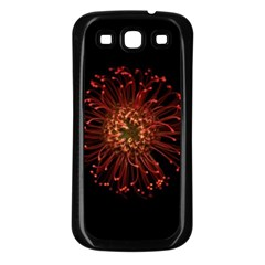 Red Flower Blooming In The Dark Samsung Galaxy S3 Back Case (black)