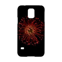 Red Flower Blooming In The Dark Samsung Galaxy S5 Hardshell Case
