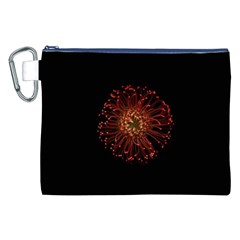 Red Flower Blooming In The Dark Canvas Cosmetic Bag (xxl)