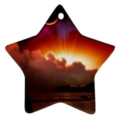 Red Fantasy Star Ornament (two Sides)