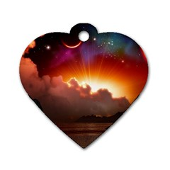 Red Fantasy Dog Tag Heart (two Sides)