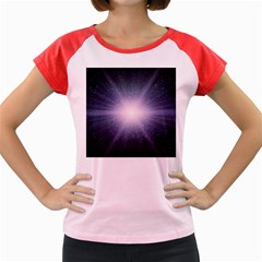 Real Photographs In Saturns Rings Women s Cap Sleeve T Shirt