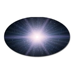 Real Photographs In Saturns Rings Oval Magnet