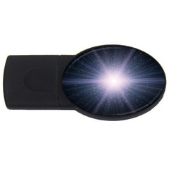 Real Photographs In Saturns Rings Usb Flash Drive Oval (2 Gb)