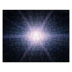 Real Photographs In Saturns Rings Rectangular Jigsaw Puzzl