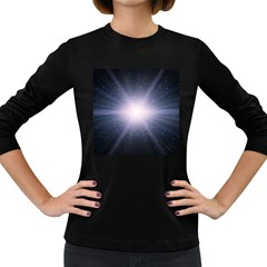 Real Photographs In Saturns Rings Women s Long Sleeve Dark T Shirts