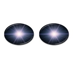 Real Photographs In Saturns Rings Cufflinks (oval)