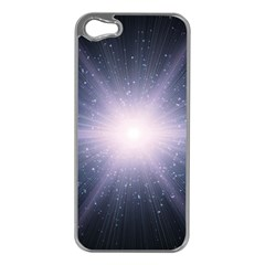 Real Photographs In Saturns Rings Apple Iphone 5 Case (silver)