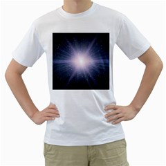 Real Photographs In Saturns Rings Men s T Shirt (white)
