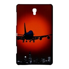 Red Sun Jet Flying Over The City Art Samsung Galaxy Tab S (8 4 ) Hardshell Case