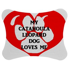 My Catahoula Loves Me Jigsaw Puzzle Photo Stand (Bow)