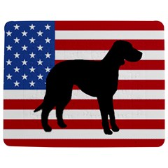 Catahoula Leopard Dog Silo Usa Flag Jigsaw Puzzle Photo Stand (Rectangular)