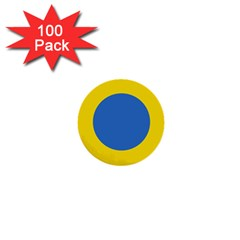 Ukrainian Air Force Roundel 1  Mini Buttons (100 pack)
