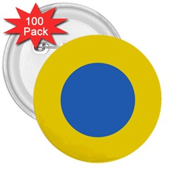 Ukrainian Air Force Roundel 3  Buttons (100 pack)
