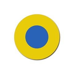 Ukrainian Air Force Roundel Rubber Coaster (Round)