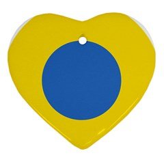 Ukrainian Air Force Roundel Heart Ornament (Two Sides)
