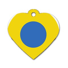 Ukrainian Air Force Roundel Dog Tag Heart (One Side)