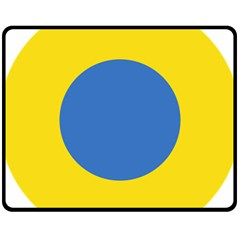 Ukrainian Air Force Roundel Fleece Blanket (Medium)