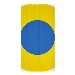 Ukrainian Air Force Roundel Shower Curtain 36  x 72  (Stall)