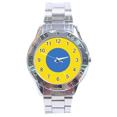 Ukrainian Air Force Roundel Stainless Steel Analogue Watch