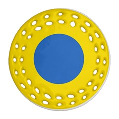 Ukrainian Air Force Roundel Round Filigree Ornament (Two Sides)