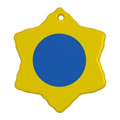 Ukrainian Air Force Roundel Snowflake Ornament (Two Sides)