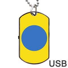 Ukrainian Air Force Roundel Dog Tag USB Flash (One Side)