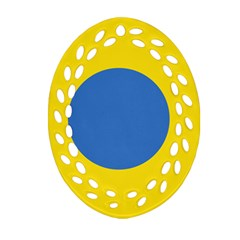 Ukrainian Air Force Roundel Oval Filigree Ornament (Two Sides)