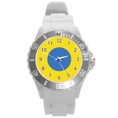 Ukrainian Air Force Roundel Round Plastic Sport Watch (L)