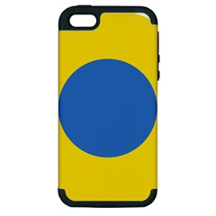 Ukrainian Air Force Roundel Apple iPhone 5 Hardshell Case (PC+Silicone)
