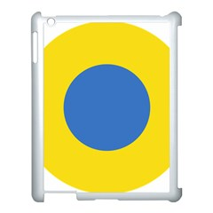 Ukrainian Air Force Roundel Apple iPad 3/4 Case (White)