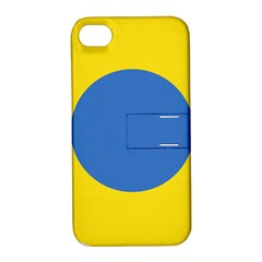 Ukrainian Air Force Roundel Apple iPhone 4/4S Hardshell Case with Stand