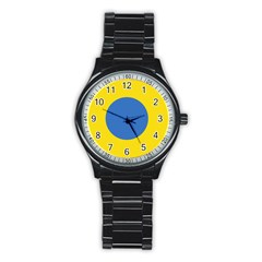 Ukrainian Air Force Roundel Stainless Steel Round Watch