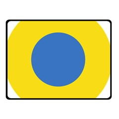 Ukrainian Air Force Roundel Double Sided Fleece Blanket (Small)