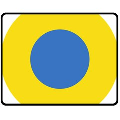 Ukrainian Air Force Roundel Double Sided Fleece Blanket (Medium)