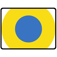 Ukrainian Air Force Roundel Double Sided Fleece Blanket (Large)