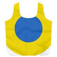 Ukrainian Air Force Roundel Full Print Recycle Bags (L)