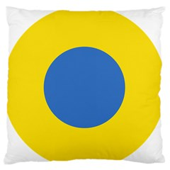 Ukrainian Air Force Roundel Large Flano Cushion Case (Two Sides)