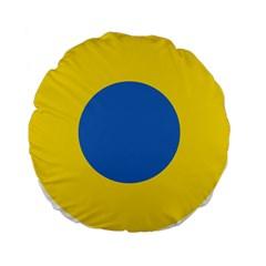 Ukrainian Air Force Roundel Standard 15  Premium Flano Round Cushions