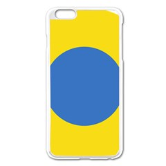 Ukrainian Air Force Roundel Apple iPhone 6 Plus/6S Plus Enamel White Case