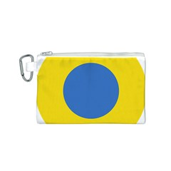 Ukrainian Air Force Roundel Canvas Cosmetic Bag (S)