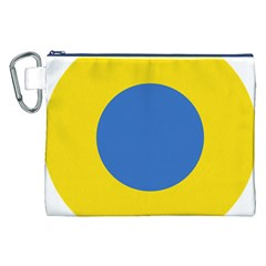 Ukrainian Air Force Roundel Canvas Cosmetic Bag (XXL)