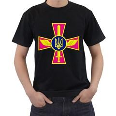 Emblem of The Ukrainian Air Force Men s T-Shirt (Black)
