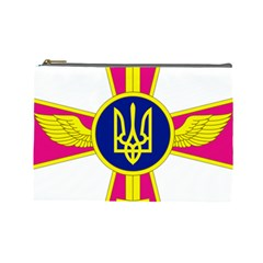 Emblem of The Ukrainian Air Force Cosmetic Bag (Large)