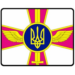 Emblem of The Ukrainian Air Force Fleece Blanket (Medium)